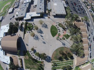 Aerial view of Foothill H.S. campus.