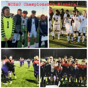 Boys Soccer championship game photo collage