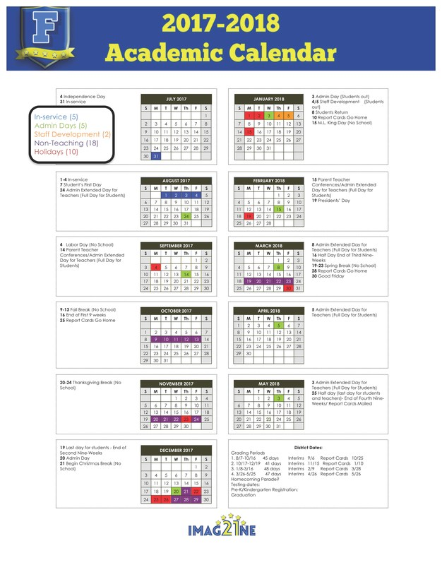 Click to view FCS District Calendar. Thumbnail Image