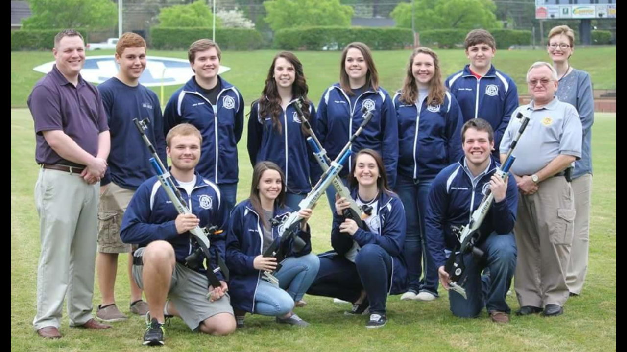 Photo of Air Rifle Team and Coaching Staff