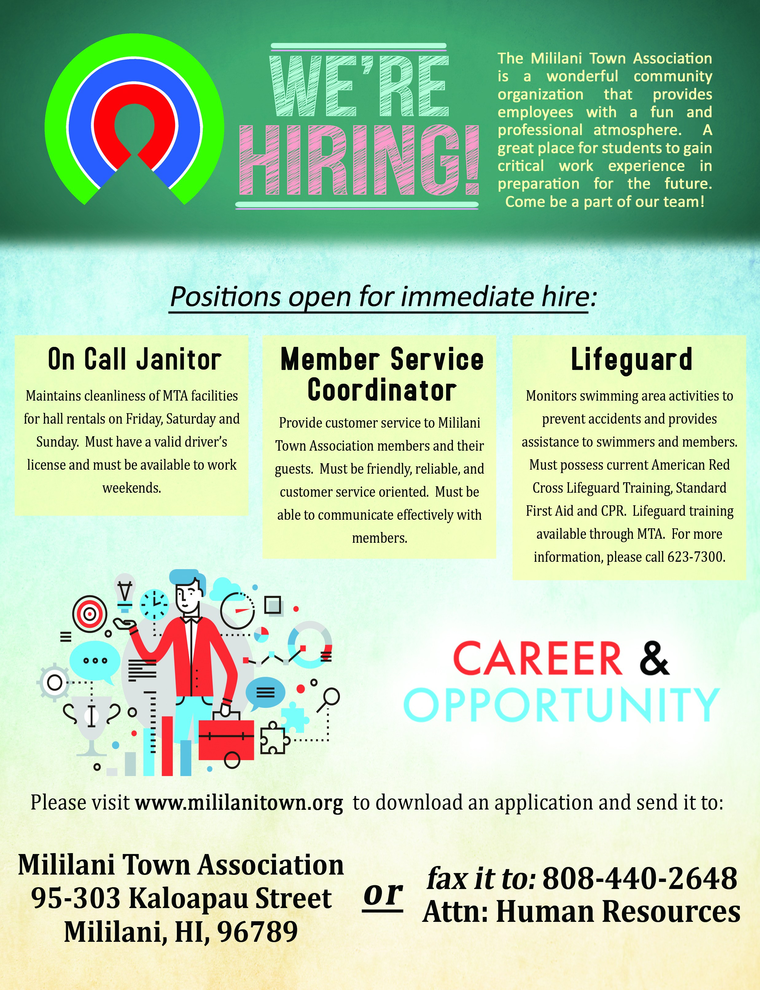 jobs summer opportunities college and career center mililani island movers summer employment