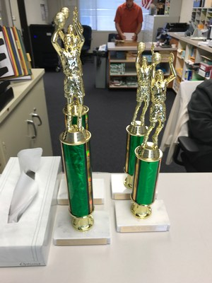 1st and 2nd place trophies