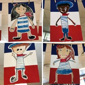 France themed student artwork