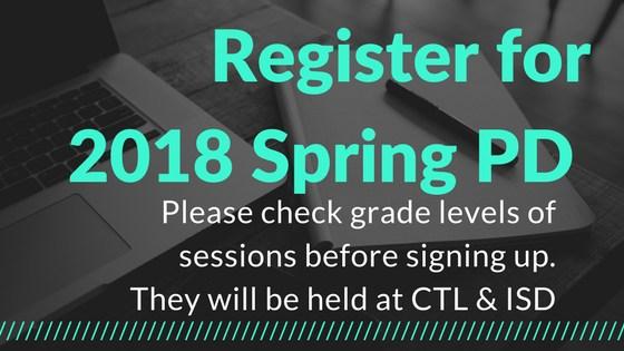 Register for Spring PD
