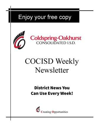 COCISD is publishing a weekly newsletter! Thumbnail Image