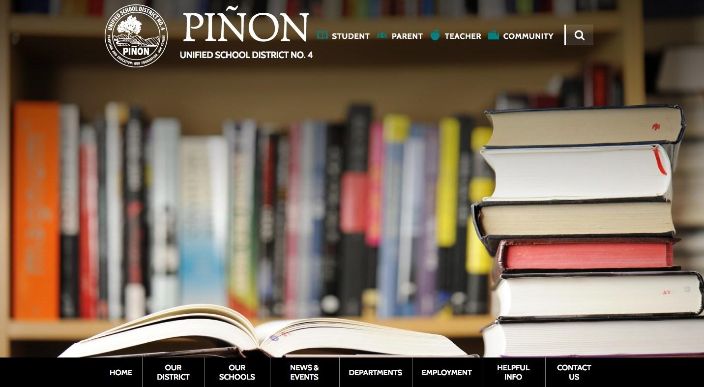 Pinon example of good school websites