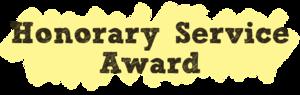honorary service awards icon