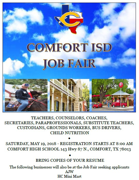 Comfort ISD Job Fair Flyer