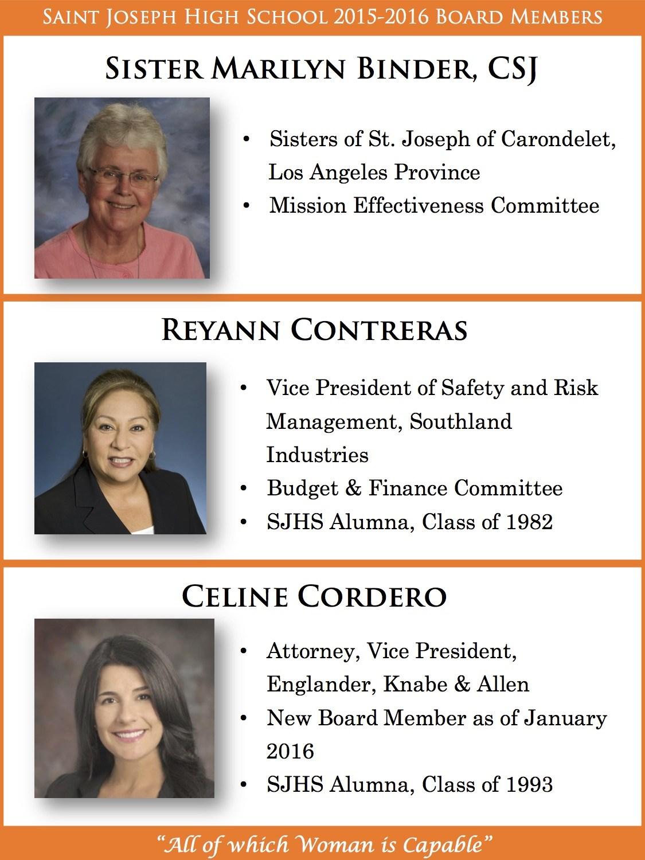 Board Members – SJHS Consultative Board – Saint Joseph High