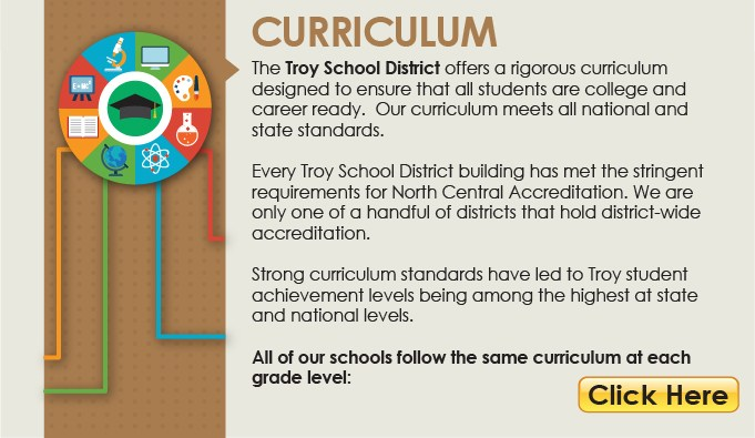 TSD Curriculum Button linking to department information. This link opens another webpage.