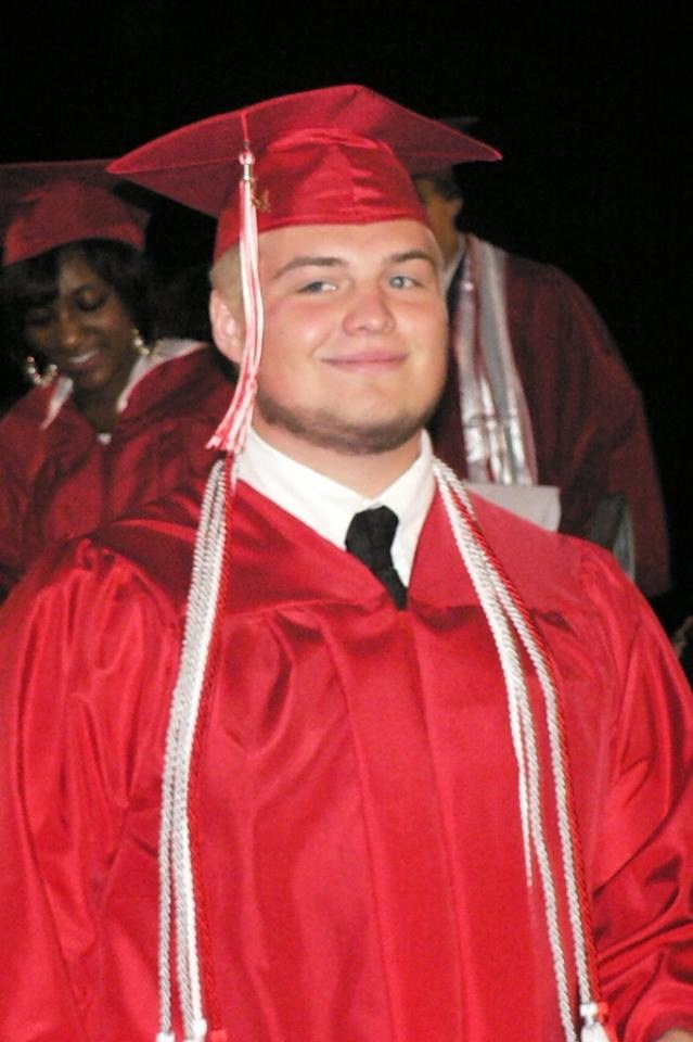 My son graduating from NCHS in 2014