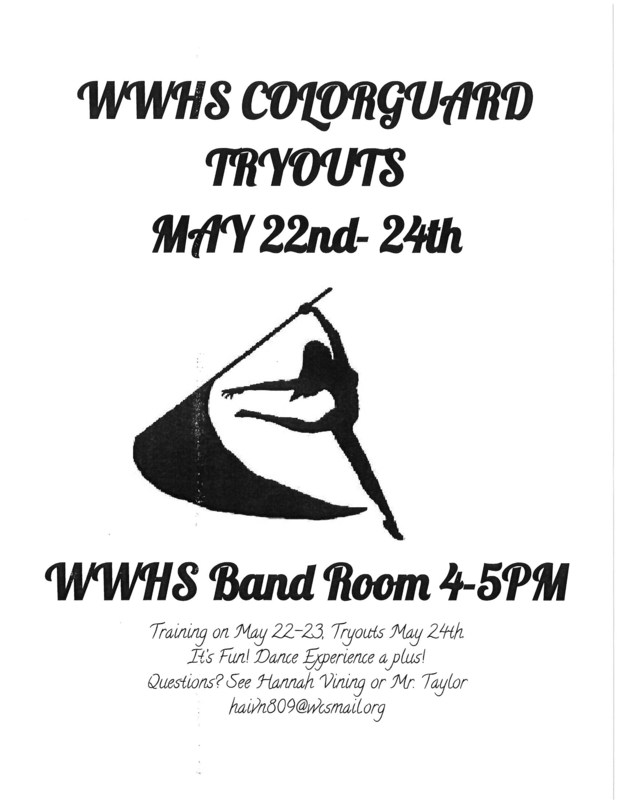 WWHS Colorguard Tryouts Thumbnail Image