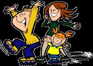 3 kids roller skating