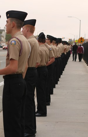 Cadets from West Valley, Tahquitz, and Hemet High came to pay their respects to Officer Zerebny