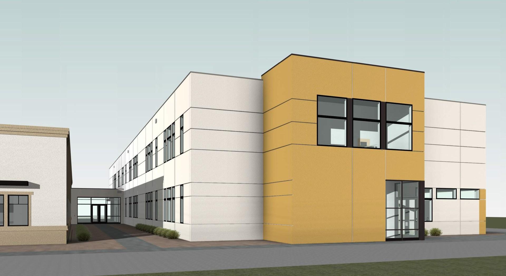 Ext rendering of middle school bldg