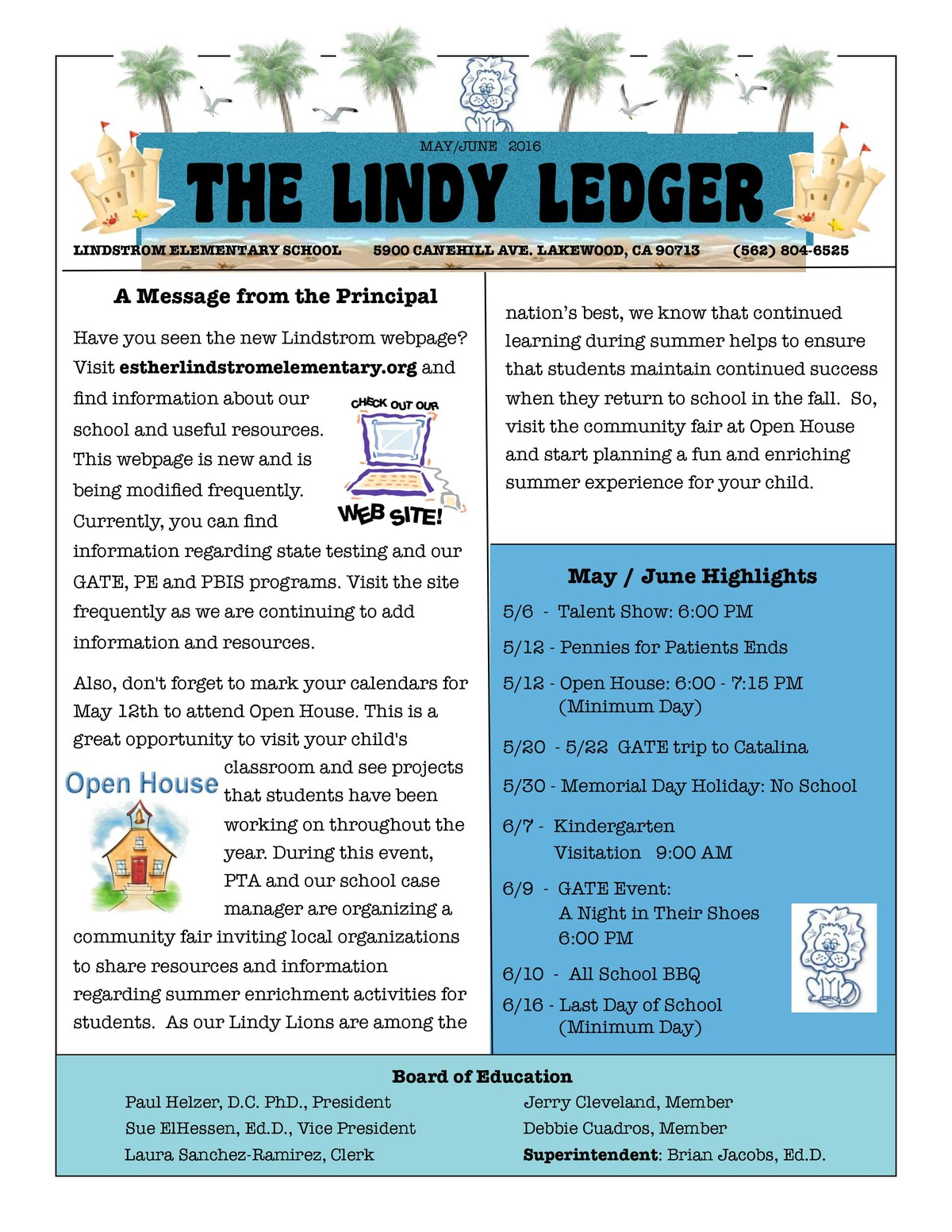 School Newsletter About Us Esther Lindstrom Elementary School – School Newsletter