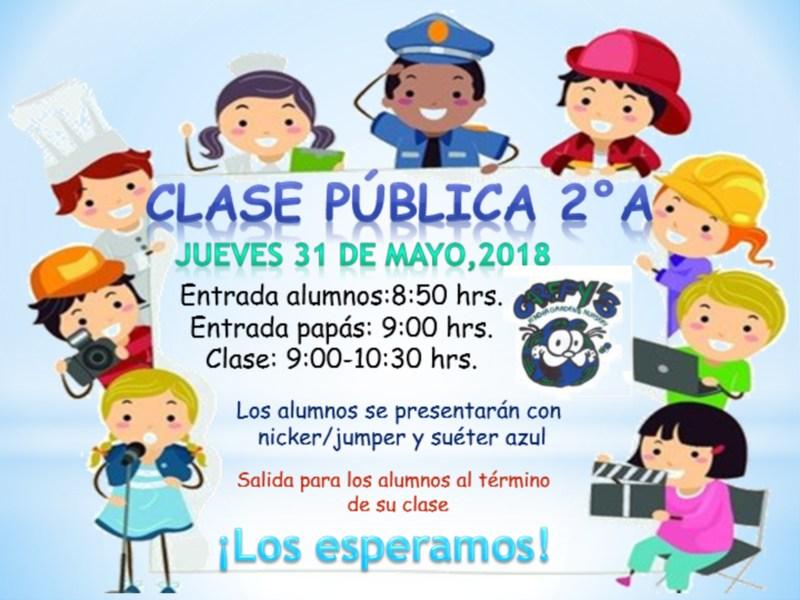 Invitación Clase Pública 2ºA Preescolar Featured Photo