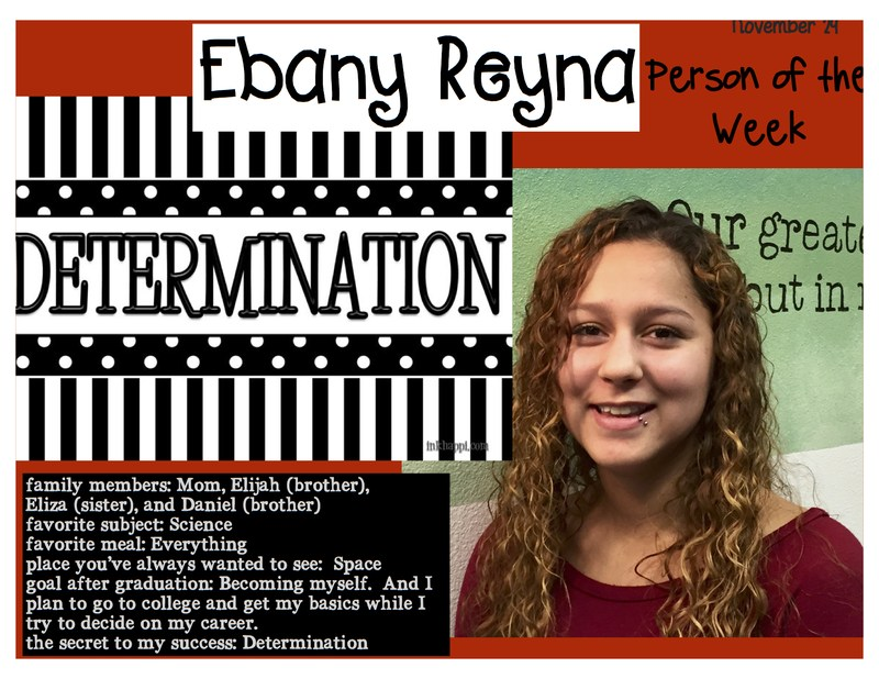 Ebany Reyna is HCAL's Person of the Week!