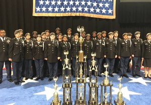 Airport High's Golden Talon drill team
