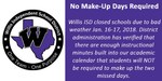 No Make-Up Days Flyer