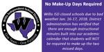 No Make-Up Days Flyer