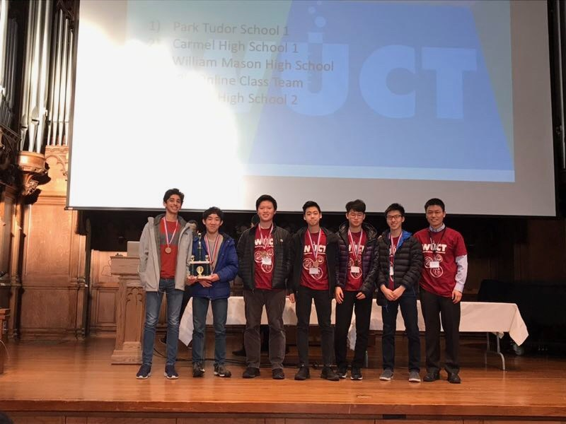 We are pleased to inform you that Troy High team (Edison Chiu (10), Aniket Dagar(11), Jaewoo Kim(10), Benjamin Liu(10), Kevin Wang(10), Matthew Wang(11)) for the first time participated in the Washington University Chemistry Tournament (WUCT) this weekend and ended up winning 6th place out of the 54 teams that participated from across the nation. Matthew Wang placed 5th in the Individual round and Matthew Wang/Jaewoo Kim pair placed 1st in Topics competition.  This science tournament focuses on collaboration, real-world applications and complex problem-solving skills that are crucial to succeed in a STEM career.
