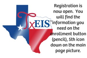 Registration is now open.  You will find the information you need on the enrollment button (pencil), 5th icon down on the main page picture