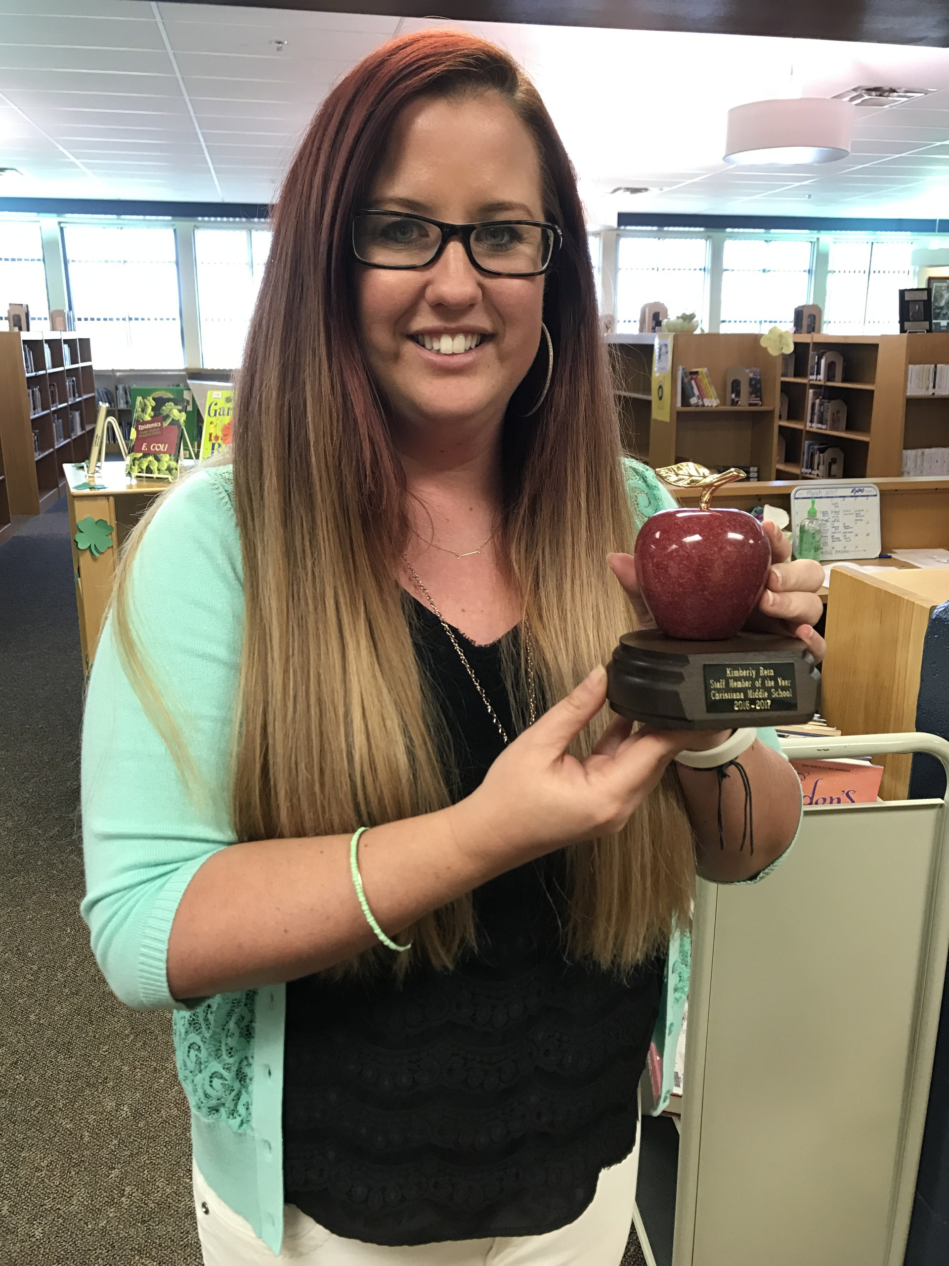 Ms. Rein named CHMS 2016 Staff Member of the Year