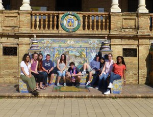 CLHS Students at the Lugo Province in the Plaza de Espana in Seville.jpg