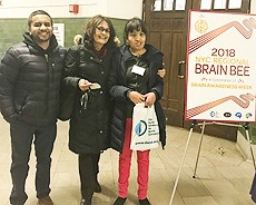 Selina competes at the Brain Bee Regional
