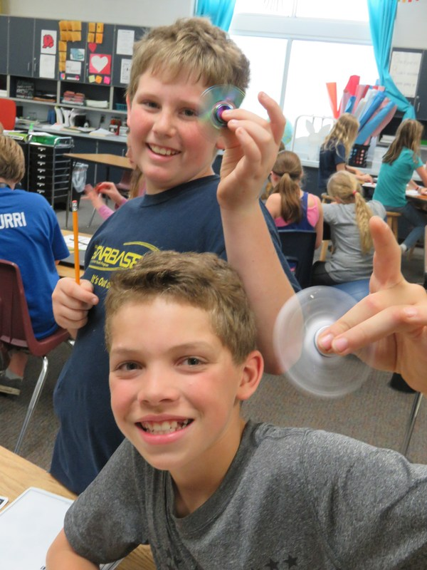Page students use latest toy craze for science experiment.
