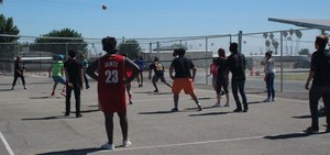 Staff Vs. Student Volleyball Game