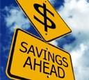 Savings Ahead sign.
