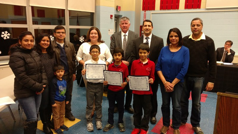 Clarendon School Scripps Spelling Bee Winners Recognized at Board's Showcase of Success Thumbnail Image