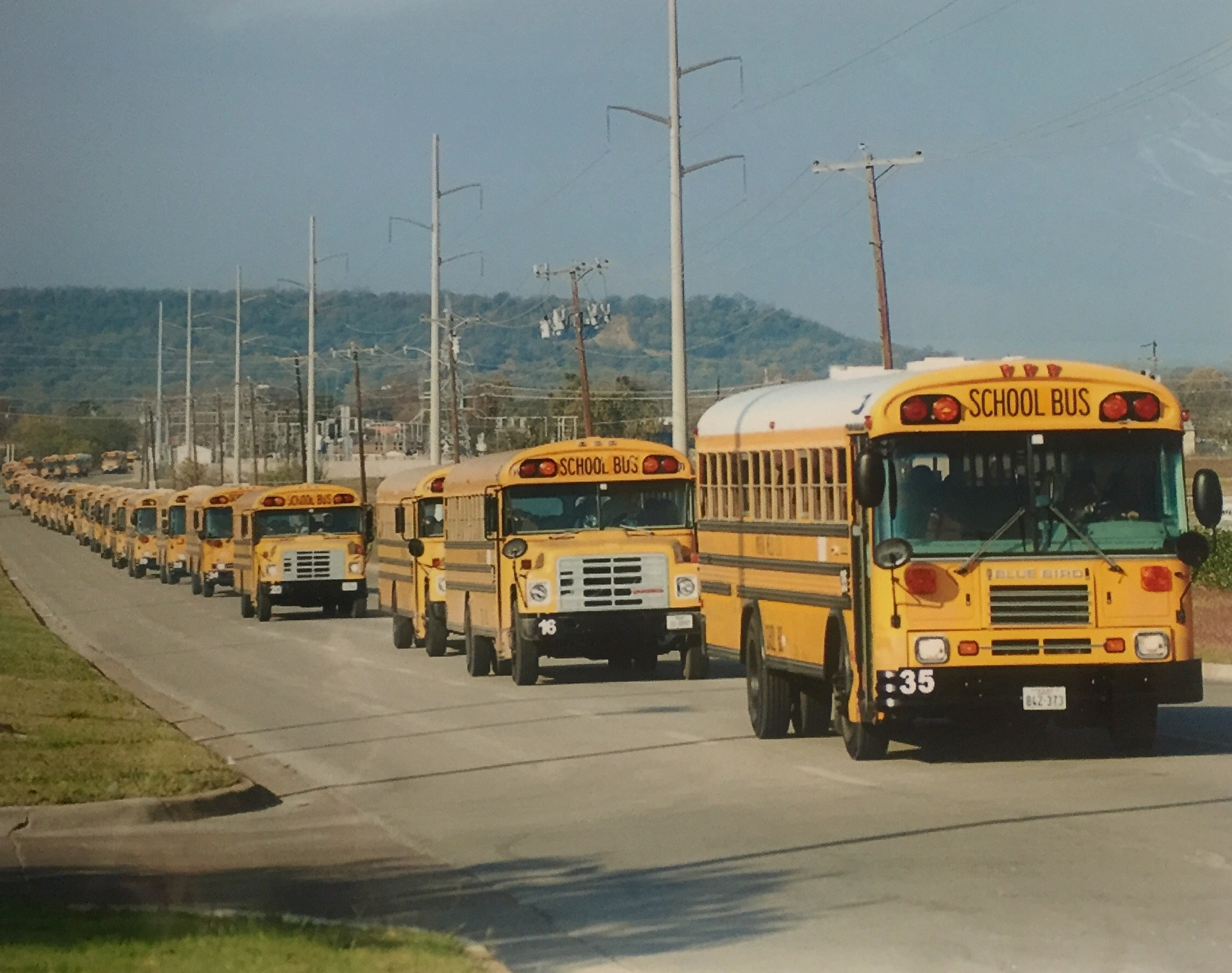 MWISD School Buses on route