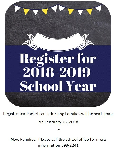 Registration for Next School Year Featured Photo