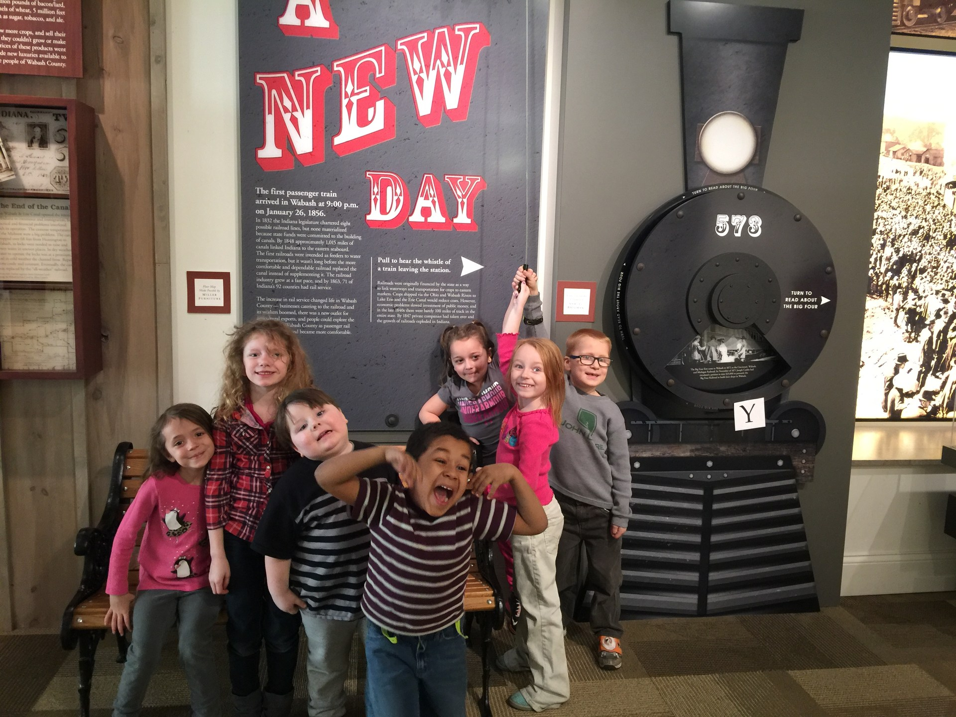 Kindergartners at Wabash County Historical Museum.