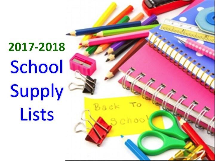 2017-2018 School Supply List