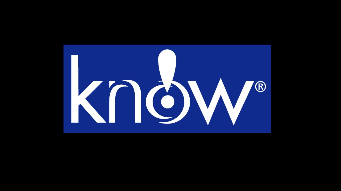 Image for Know! parent information. The image spells out the word Know with an exclamation point in the center of the word.