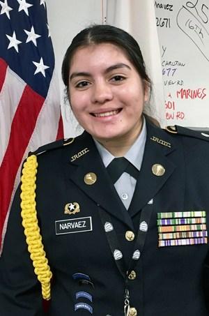 Arvin High School's first West Point nominee, AnnMarie Narvaez