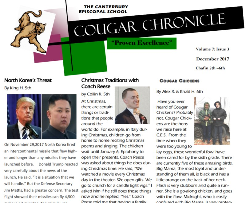 December Issue of the Cougar Chronicle Thumbnail Image