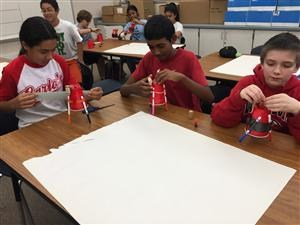 Hands-on projects students explore electricity