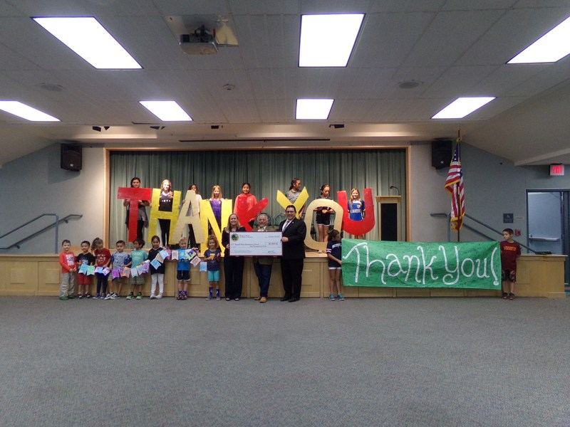 Bonsall West Thanks Barona For the $5000 grant