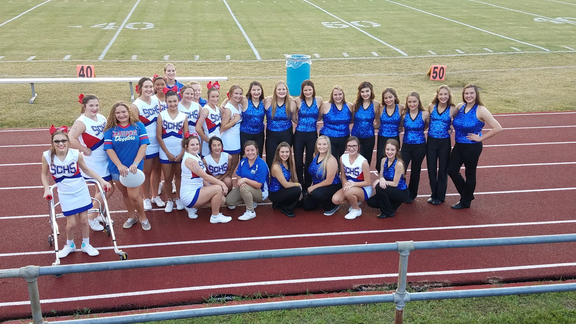 Tarpon Dazzlers and Cheerleaders