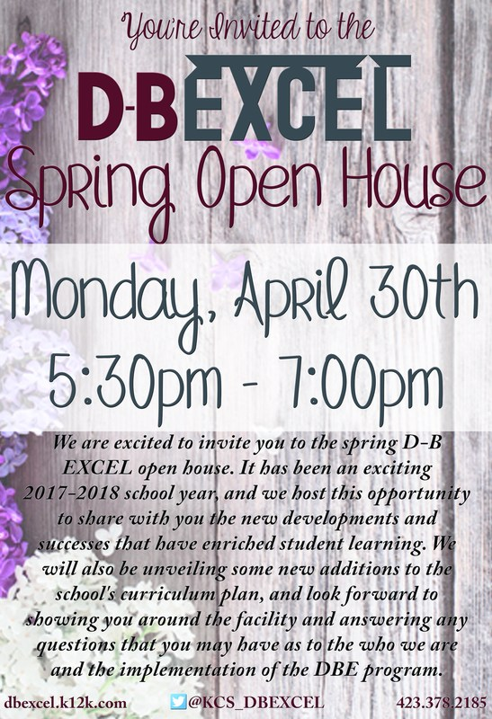 DB EXCEL Spring Open House