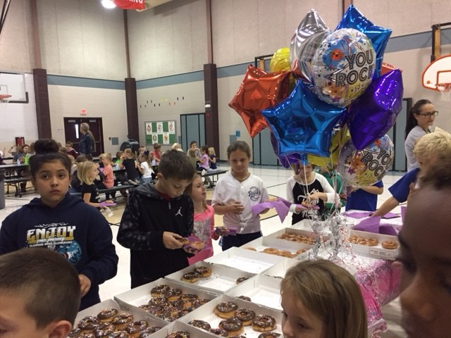 Donut party for selling PTO fundrasing items