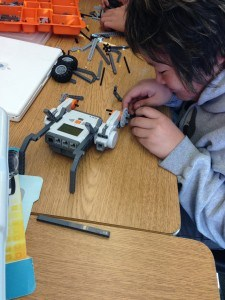 Students coding technology in an elective class