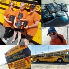 School bus driver competition High Desert photo collage