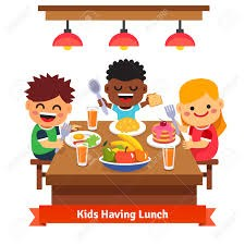 kids having lunch decorative