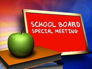 Special School Board Meeting
